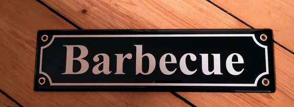 Barbecue Schild
